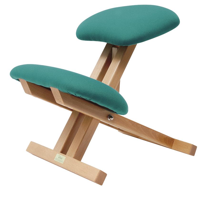 chaise repliable en bois de h tre avec appui genoux. Black Bedroom Furniture Sets. Home Design Ideas
