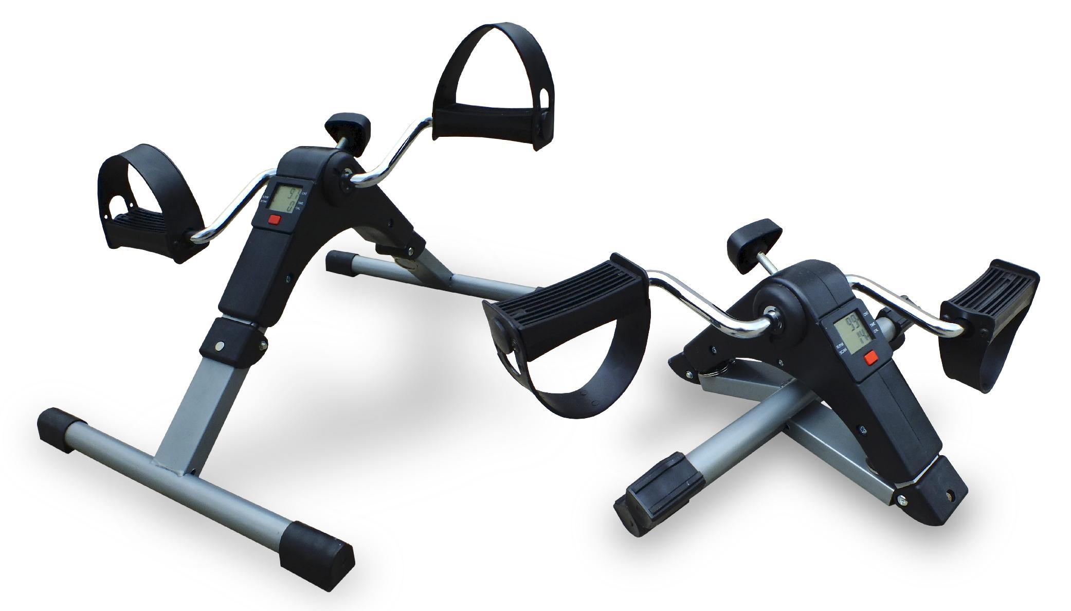 PÉDALIER AVEC ECRAN LCD Ce pédalier permet de mettre en oeuvre facilement un exercice physique. Il est équipé d'une molette de serrage permettant de modifier la résistance de