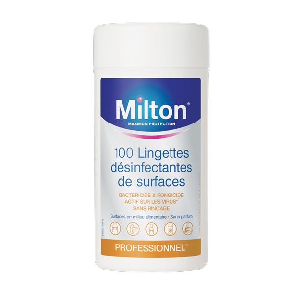 MILTON BOITE LINGETTES DESINFECTANTES MULTI USAGES
