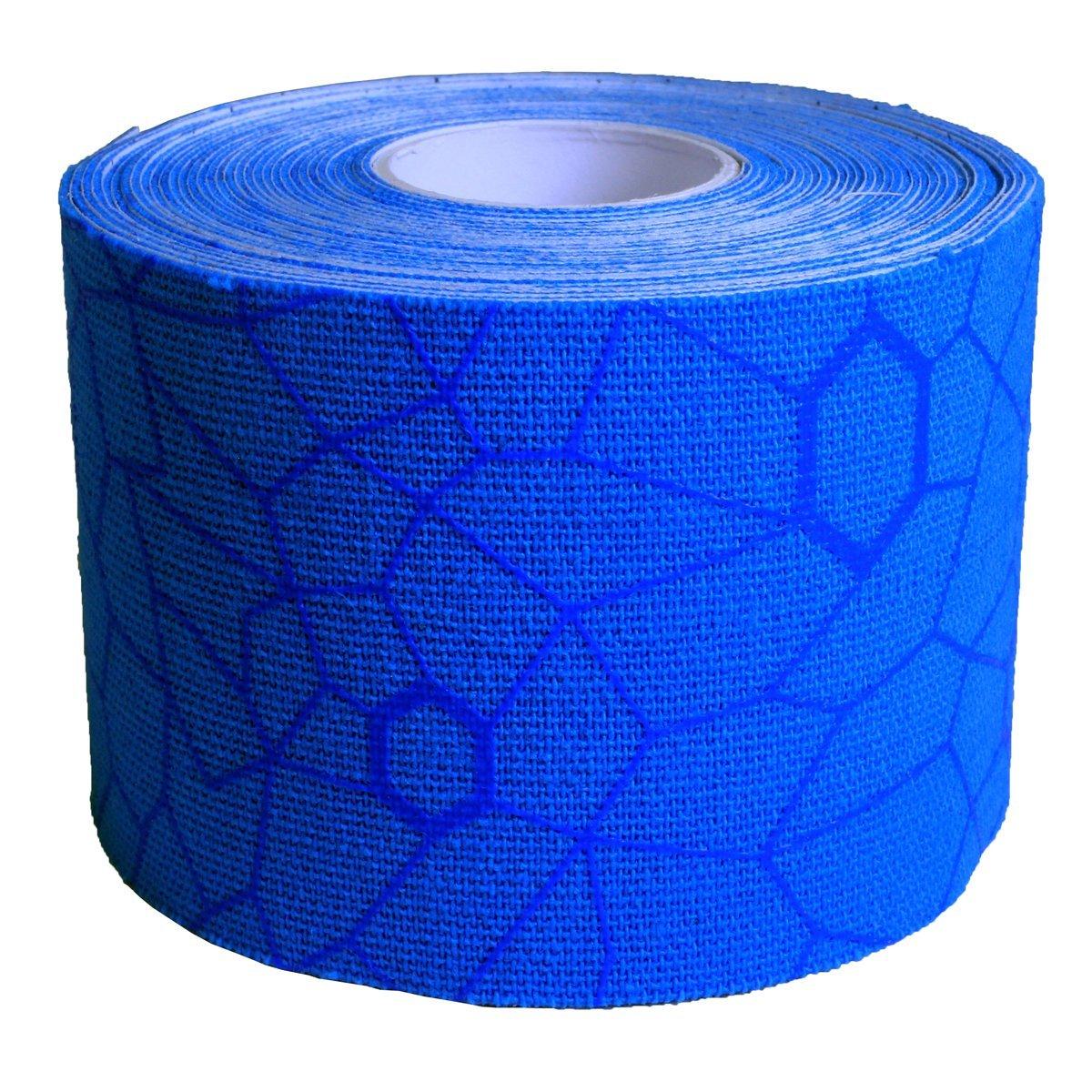 Bande de Kinesiologie Tape theraband Bleu avec Indicateurs visuels de tension